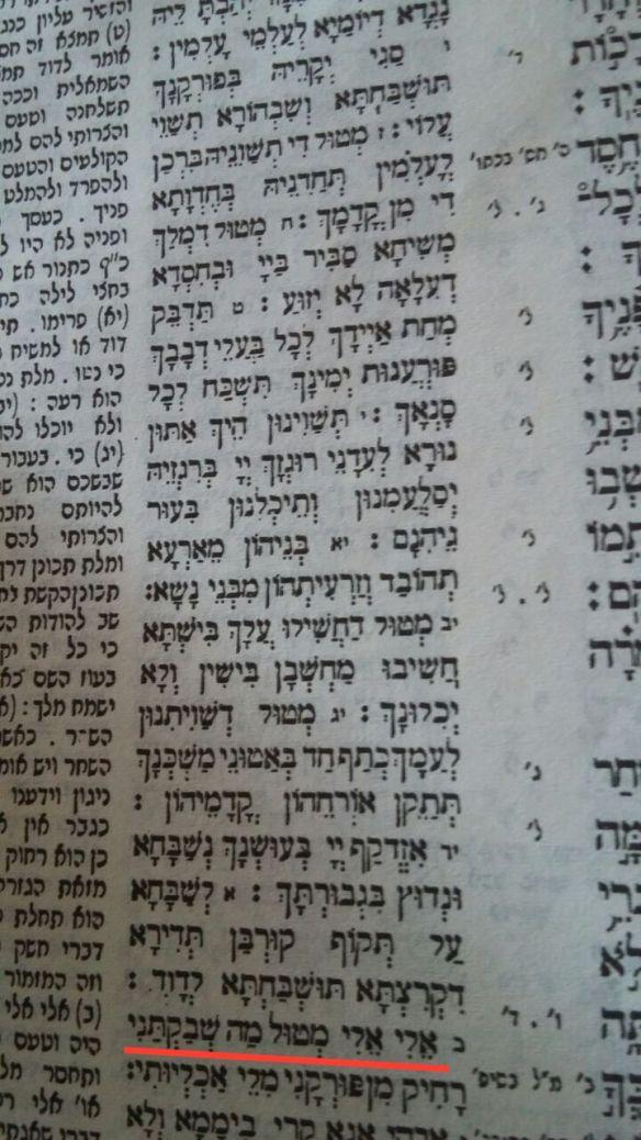Targum Yonathan Mazmur 22-
